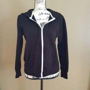 Faded Glory Women's Black Hoodie Sweatshirt size M